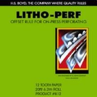 "LITHO PERF 6d/"" CARTULINA"